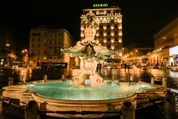 Piazza Barberini Fountain