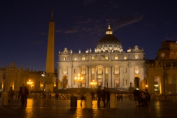Vatican just after sunset