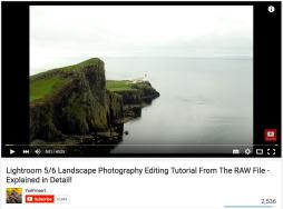 Lightroom RAW Landscape Tutorial - Starting Image
