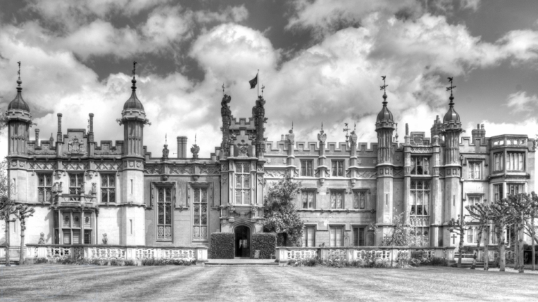 Knebworth House Black and White