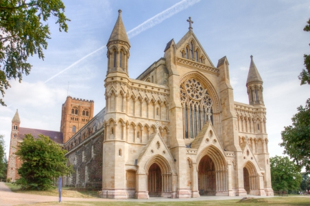 Outside St Albans Cathedral